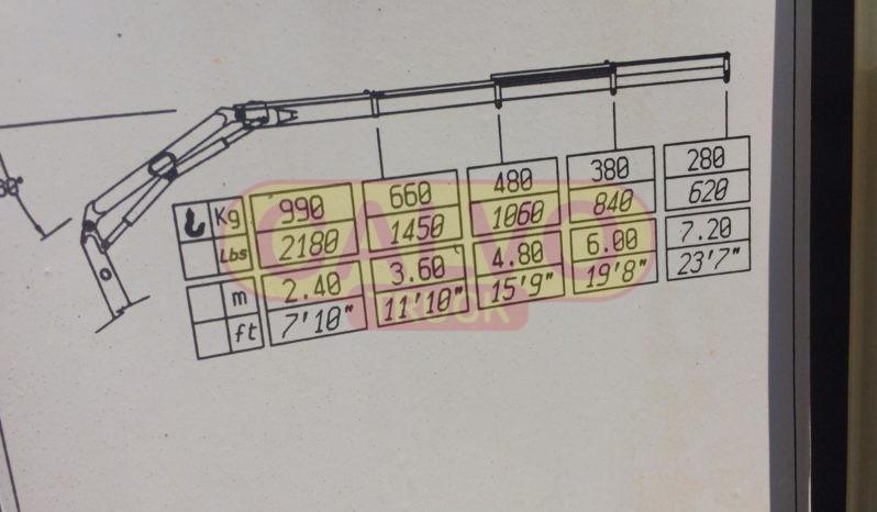 Ford Transit ribaltabile e gru diagramma